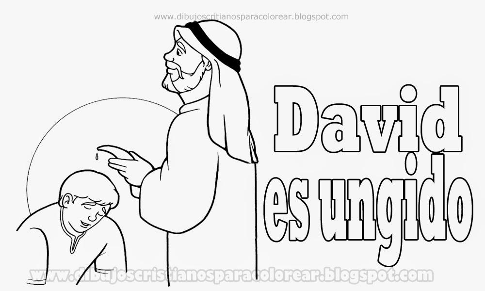 Dibujos Biblicos Para Colorear Del Rey David: David Es Ungido Para Colorear