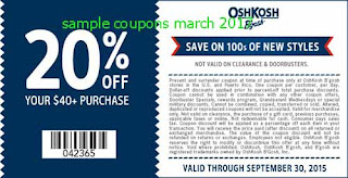 free OshKosh B'gosh coupons for march 2017