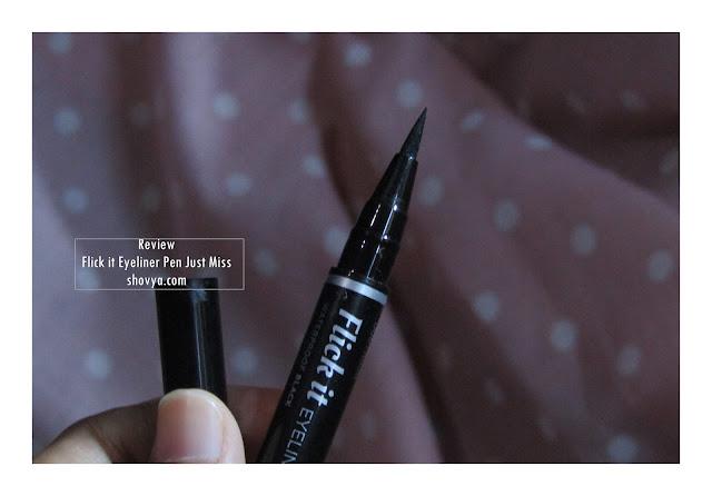 Review Just Miss Eyeliner Pen / Spidol Flick It Waterproof Black