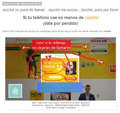 Lo + leído en el troblogdita - enero 2016 - ÁlvaroGP - Álvaro García - Jazztel no para de llamar - Jazztel me acosa - Jazztel, para por favor
