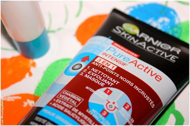 Soin 3 en 1 anti-points noirs incrustés au charbon végétal - Pure Active de SkinActive de Garnier - Blog beauté