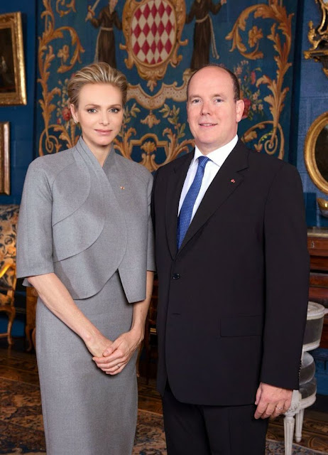 New Official Photo of Prince Albert and Princess Charlene