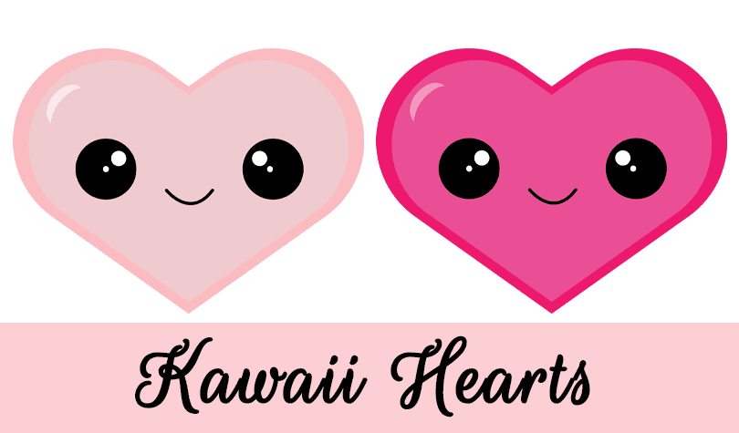 Kawaii Hearts: Valentine Clipart Freebie | Grade ONEderful Designs