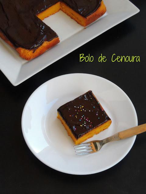 Brazilian carrot cake, Bolo de Cenoura