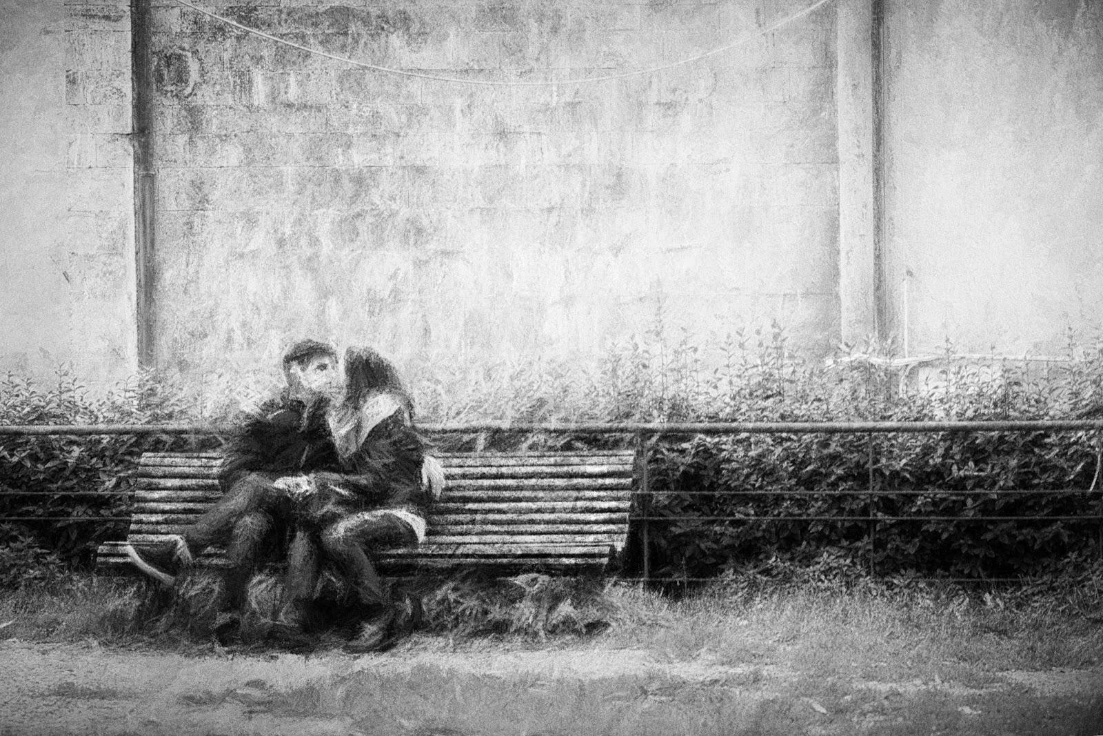 fine art fotografie kiss impressionist street photography. Black Bedroom Furniture Sets. Home Design Ideas