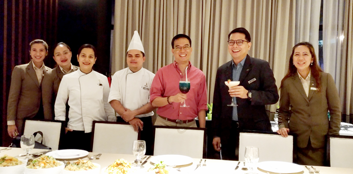 DOT Region XI Director Robby Alabado, GM Ken Kapulong, Chef Bang Flores  and the Senior Staff of Seda Abreeza.
