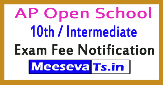 AP Open School 10th / Intermediate Exam Fee Notification 2018
