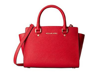 Michael Kors Selma Medium Satchel Chili/Gold