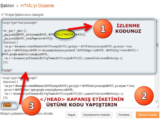HTML Şablonu