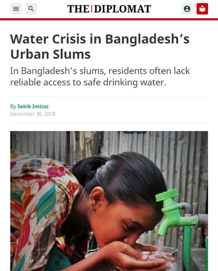 Water Crisis in Bangladesh's Urban Slum