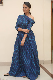 Anchor Anasuya in a Blue Gown at Jai Lava Kusa Trailer Launch ~  Exclusive Celebrities Galleries 037.JPG
