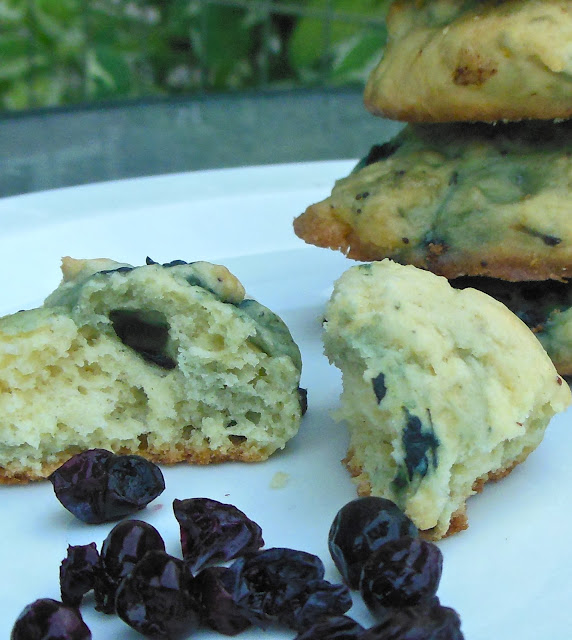 Lori's Culinary Creations: Blueberry Chocolate Cream Cheese Cookies {Guest Post at Mom's Test Kitchen}