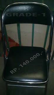kursi lipat bekas, kursi lipat tanpa meja