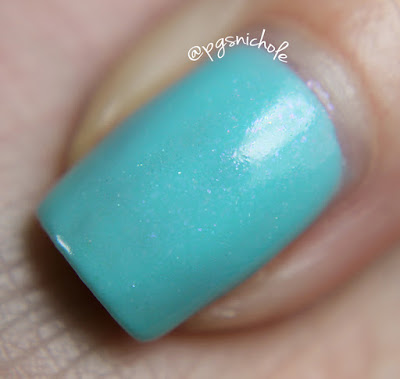Blue-Eyed Girl Lacquer Three Years and S-Teal Going