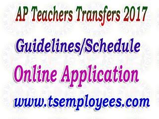 AP Teachers Transfers 2017 Guidelines Online Application