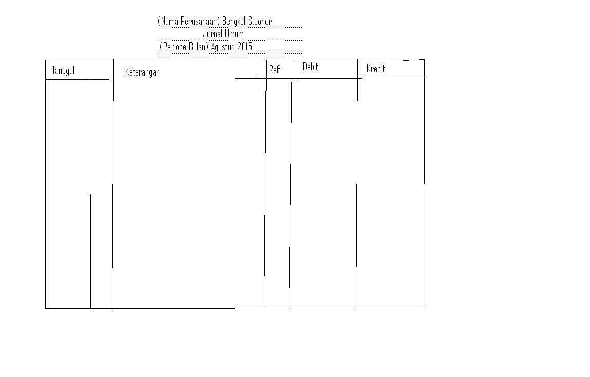 cara mudah membuat jurnal umum contoh jurnal umum 4 kolom