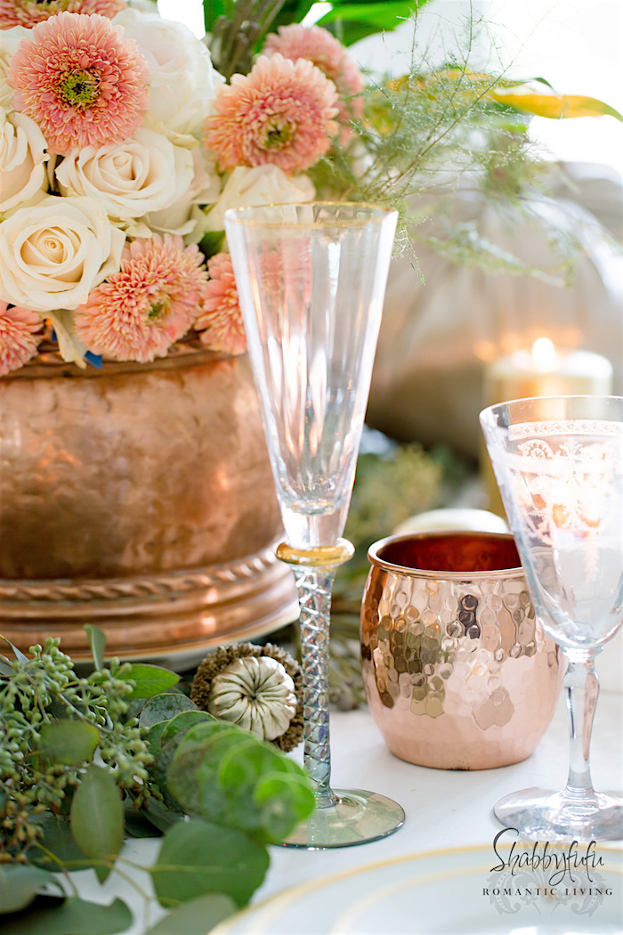 glamorous-elegant-copper-table-setting