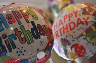 Birthday balloons - Larkfleet is 20 years old
