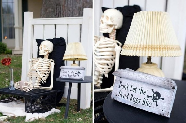 Creepy Decoration Skeleton Bed Design Ideas Front Yard Jewelry Vintage Lamp