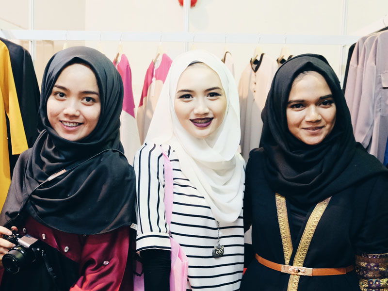 Hey Bash with Syafina Official three hijab fashion style bloggers