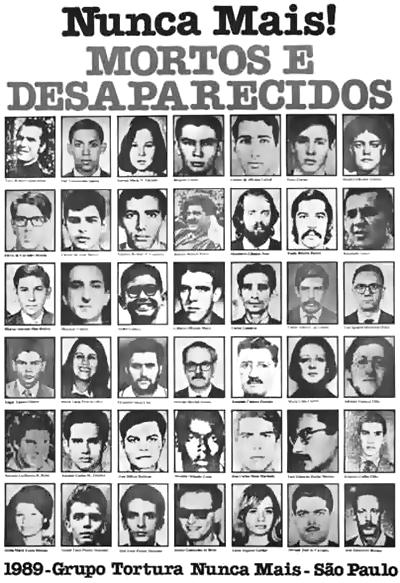 Resultado de imagem para mortos e desaparecidos na ditadura militar