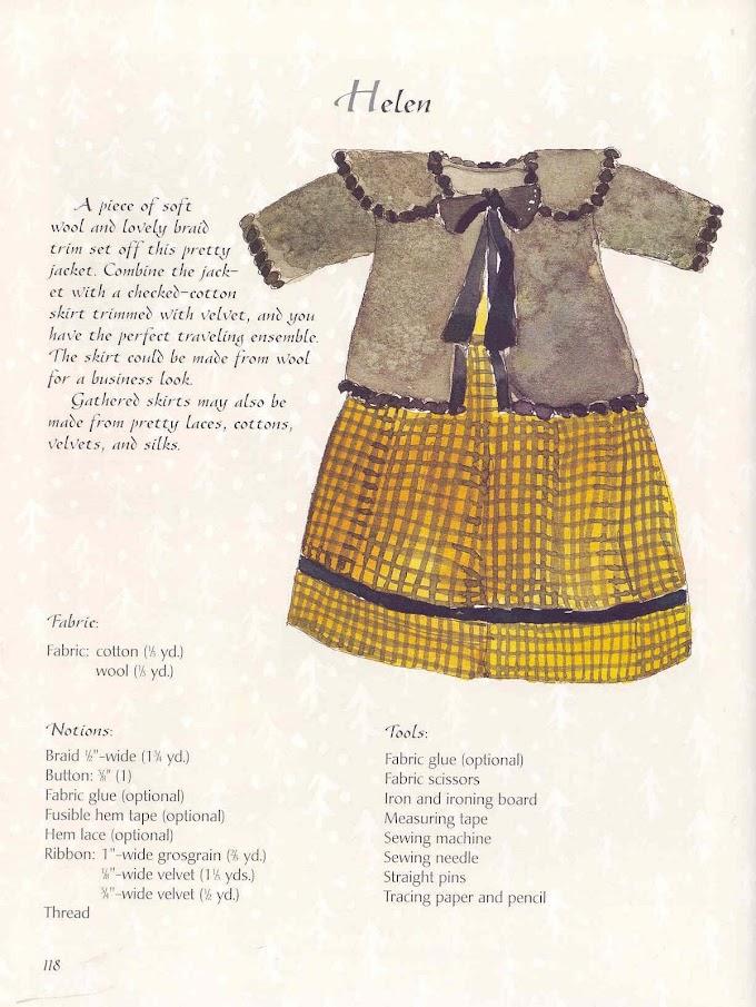 Bonecas De Pano-Moldes De roupas