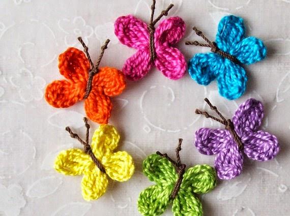 Mariposas De Primavera Tejidas Al Crochet