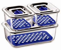 QSN: envases de cristal para alimentos en frigo