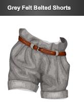 stardoll le grey felt belted shorts
