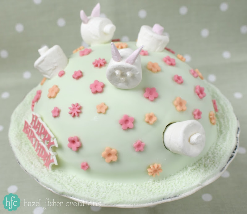 Things I Love About Spring, birthday cake -hazelfishercreations