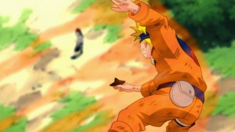 Naruto ataca a Neji