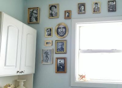 refabulous bathroom redo, jeff goldblum decor collection diy thrifted
