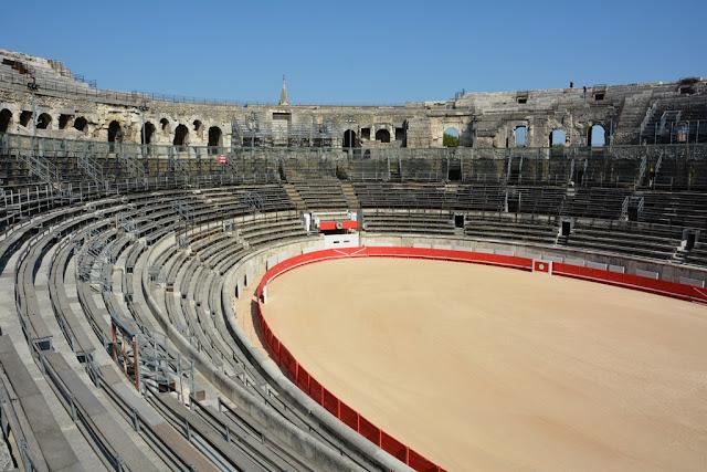 Arena Nimes sand pit