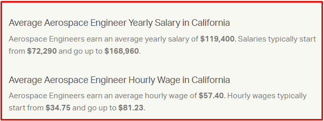 Salary of aerospace engineer