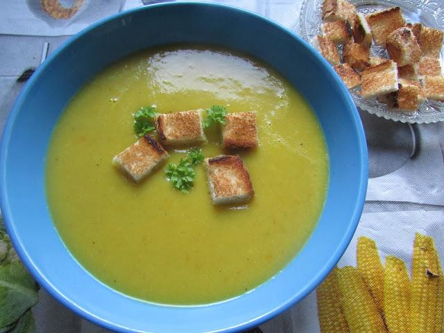 zupa z marchewki i cukinii