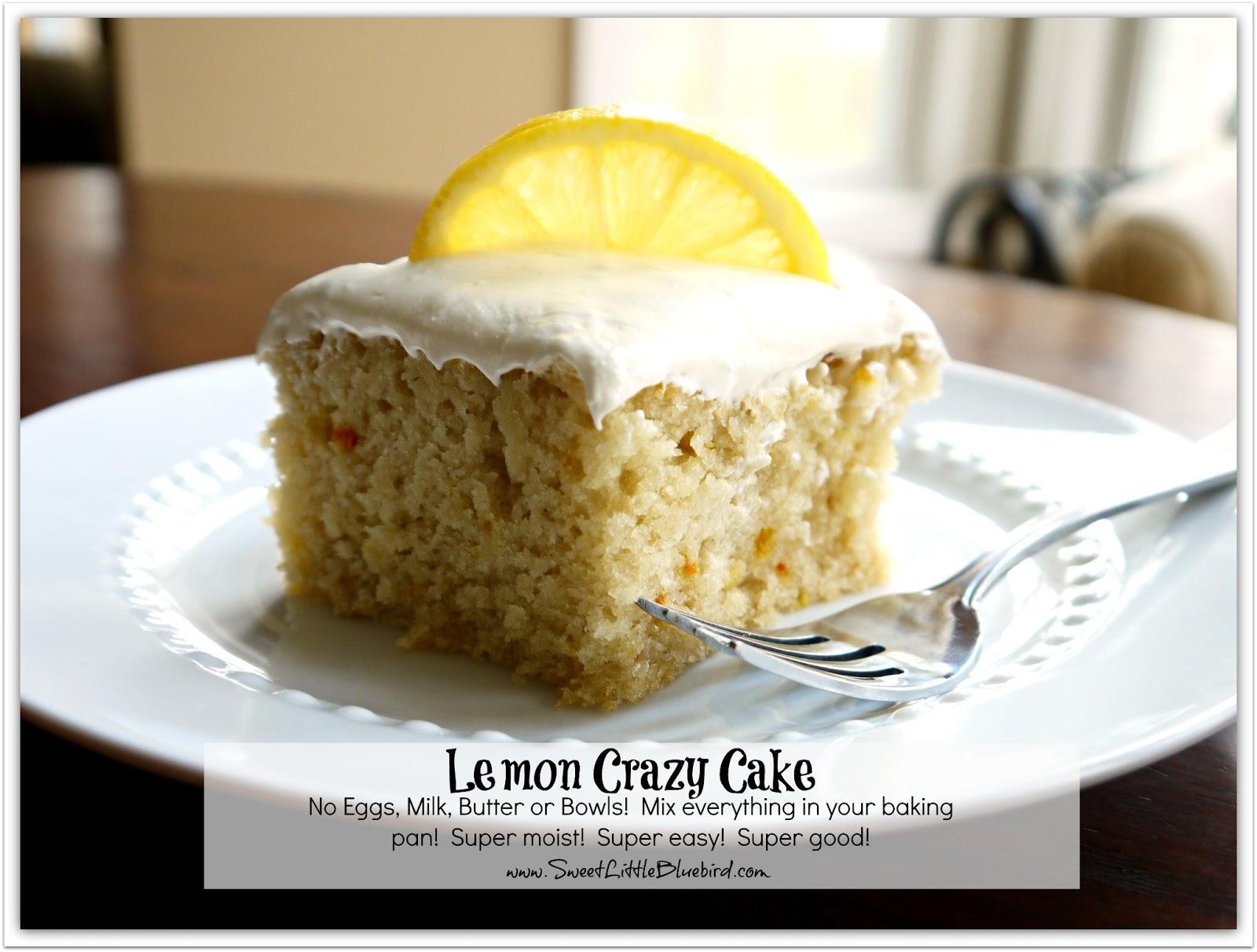Lemon Crazy Wacky Cake