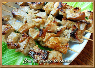 Pinchitos de cerdo tailandeses