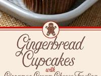GINGERBREAD CUCPAKES W/ CINNAMON CREAM CHEESE FROSTING
