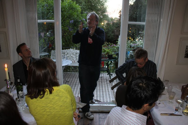 Robin Ince at my comedy supper club, The underground restaurant