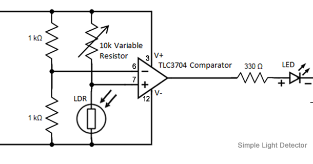 given the schematic for a simple circuit make it a real circuit