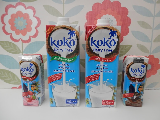 Koko dairy free original, light, strawberry and chocolate. Koko dairy free milk alternative, a review and an easy vegan microwave cake recipe. secondhandsusie.blogspot.com #vegan #kokodairyfree