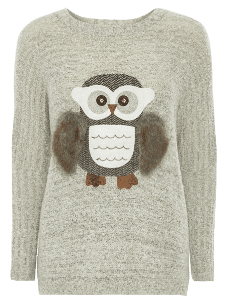 Jersey con estampado de búho en gris de la colección de Primark