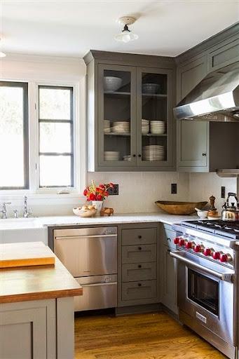 Model Kabinet Dapur Dari Metal Atau Aluminium Minimalis Modern Terbaru 2017