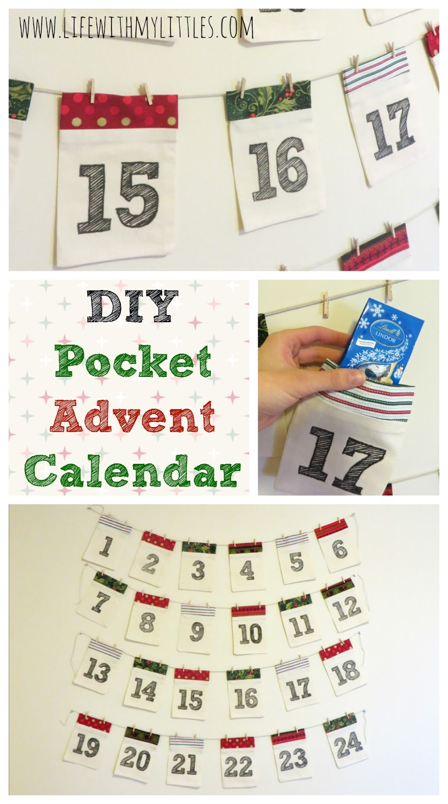 Diy Sewing Advent Calendar : Diy pocket advent calendar life with my littles