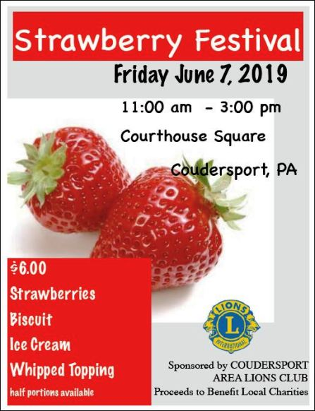 6-7 Strawberry Festival, Coudersport