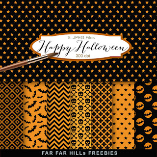New Freebies Kit of Backgrounds - Happy Halloween