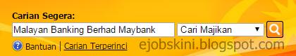 Jawatan Kosong Malayan Banking Berhad (Maybank) Oktober 2016