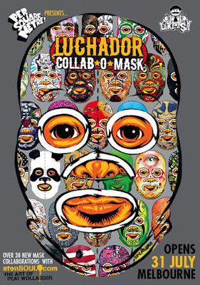 Luchador Collab-o-mask flier