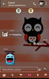BBM Mod Mini Owl BBM Lucu Base 3.0.0.18 Apk Terbaru Gratis