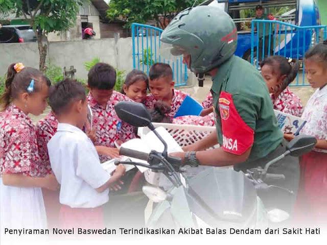 Kodim Saumlaki Bangkitkan Minat Baca Generasi Muda Lauran